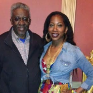 Lamerol Gatewood and Bisa Butler at her Group Art Reception at Kings Theatre, Brooklyn,NY