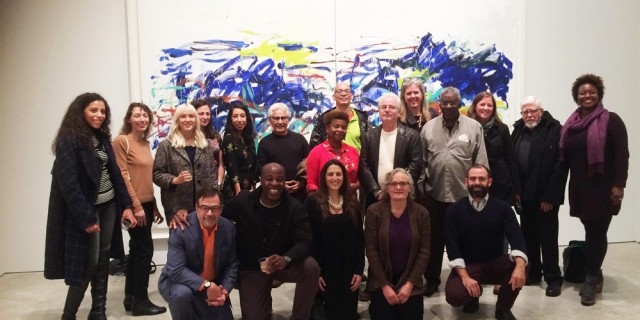 Past  recipients at The Joan Mitchell: Drawing Into Painting Opening Reception