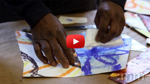 The studio and process of artist Lamerol Gatewood... THE ENERGY SERIES